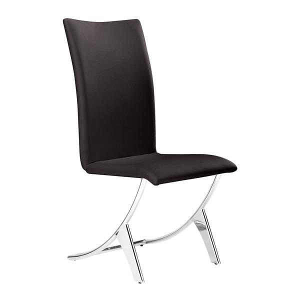 Zuo Modern Delfin Dining Chair - 17-in x 18-in - Brown - Set of 2