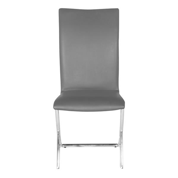 Zuo Modern Delfin Dining Chair - 17-in x 18-in - Grey - Set of 2