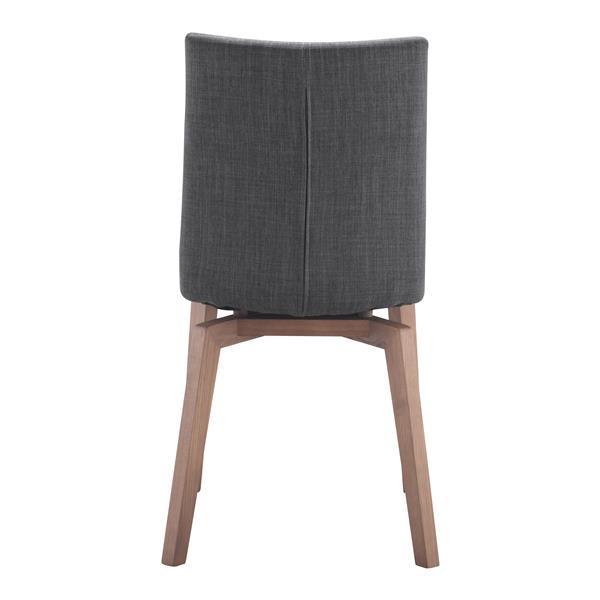Zuo Modern Orebro Dining Chair - 18.9-in - Grey - Set of 2