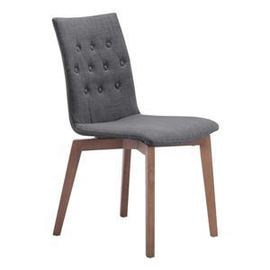 Chaise de salle à manger Orebro de Zuo Modern, 18,9 po, gris, ens. de 2
