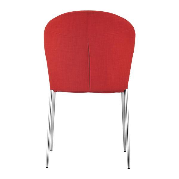 Zuo Modern Oulu Dining Chair - 18.5-in - Fabric - Orange - Set of 4