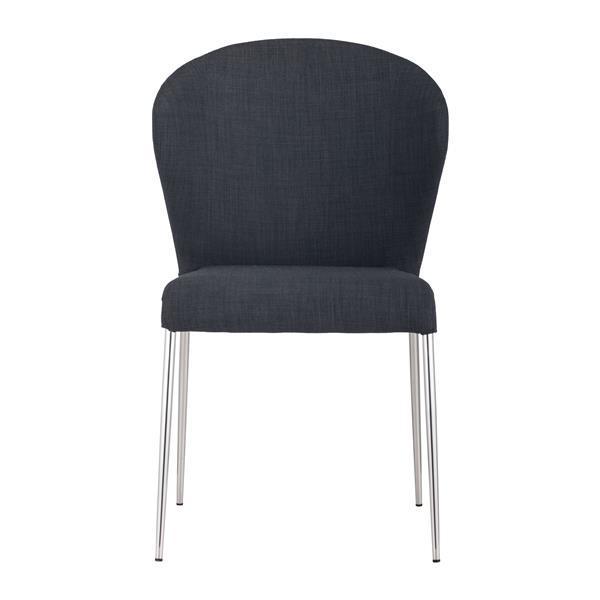 Zuo Modern Oulu Dining Chair - 18.5-in - Fabric - Dark Grey - Set of 4