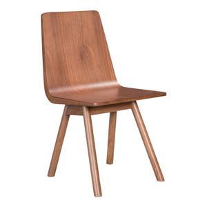 Chaise de salle à manger Audrey de Zuo Modern, 18,3 po x 17,7 po, bois d'hévéa, ens. de 2