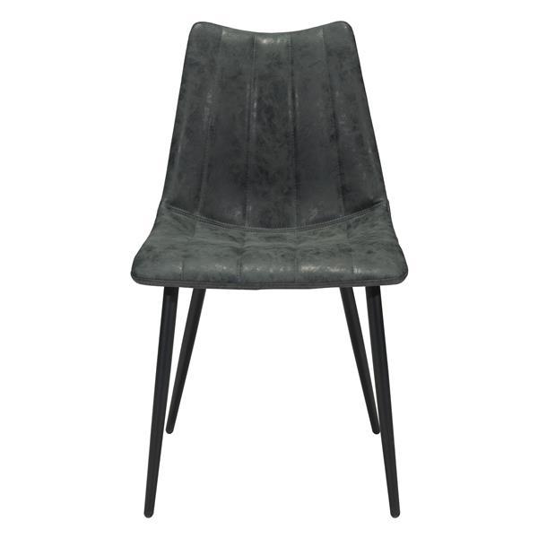 Chaise de salle à manger Norwich de Zuo Modern, 17,7 po, noir, ens. de 2