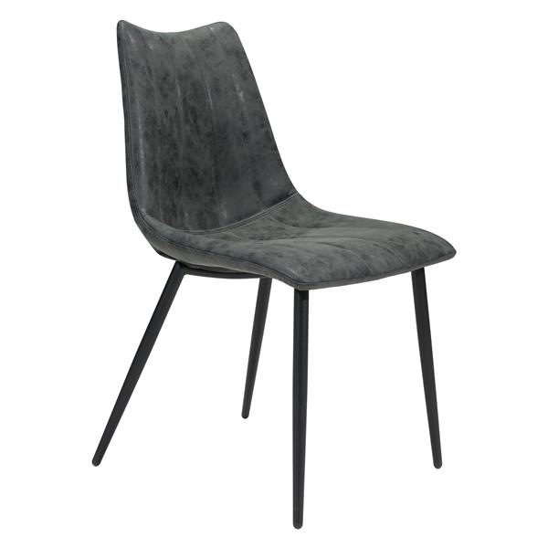 Zuo Modern Norwich Dining Chair - 17.7-in - Black - Set of 2