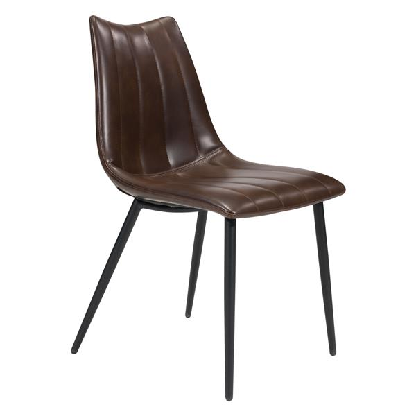 Zuo Modern Norwich Dining Chair - 17.7-in - Brown - Set of 2