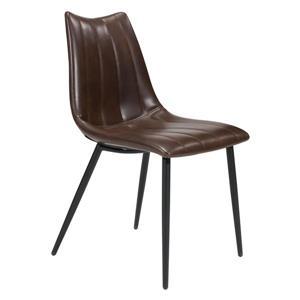 Chaise de salle à manger Norwich de Zuo Modern, 17,7 po, brun, ens. de 2