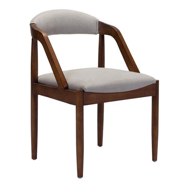 Zuo Modern Jefferson Dining Chair - 19.7-in - Light Grey - Red Cedar