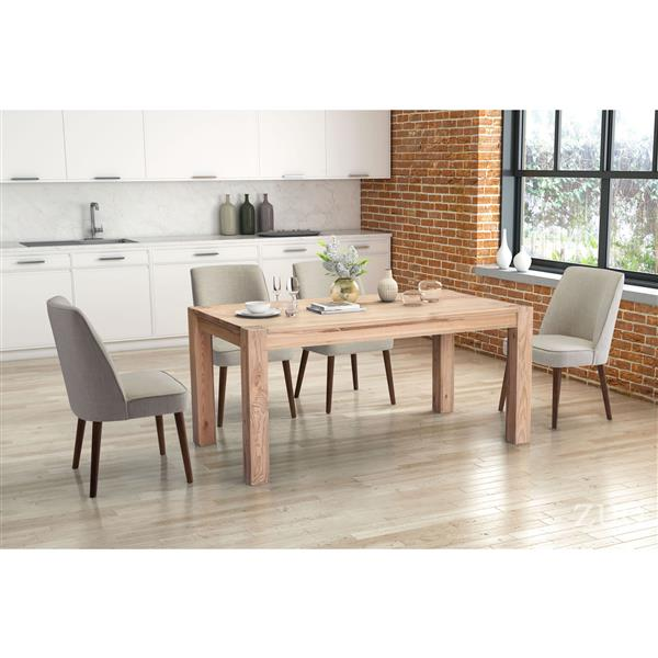 Zuo Modern Kennedy Dining chair - 19.7-in - Fabric - Beige - Set of 2