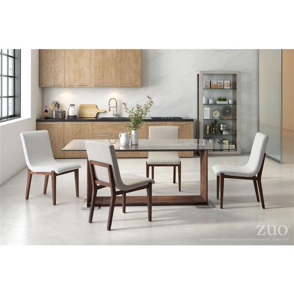 Zuo Modern Hamilton Dining Chair - 19.3-in x 18.5-in - Beige - Set of 2