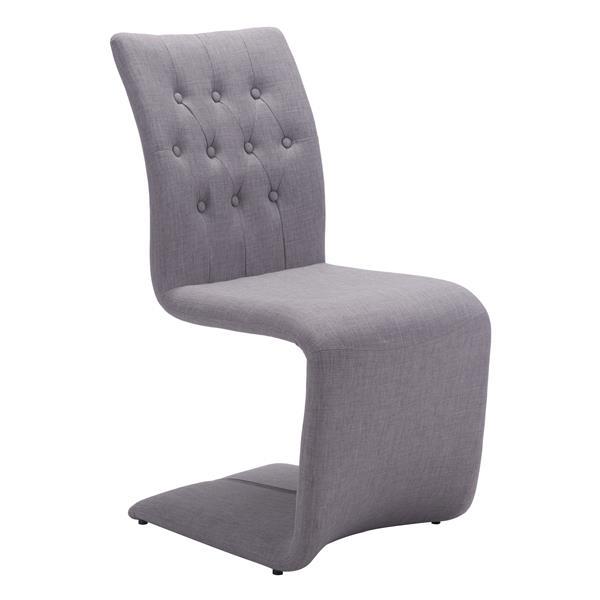 Zuo Modern Hyper Dining Chair - 19.3-in x 18.5 - Beige/Grey - Set of 2