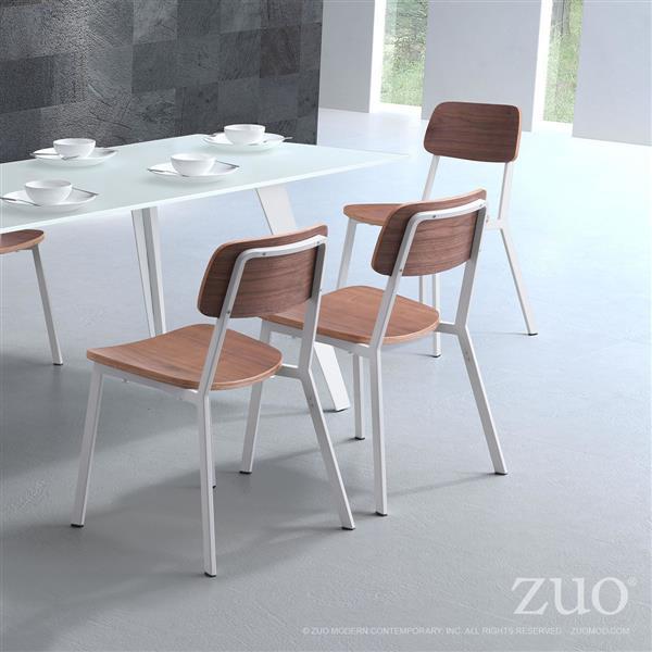 Modern Zuo De Cuisine Chaises Cappuccino17 7 8Ok0wnP