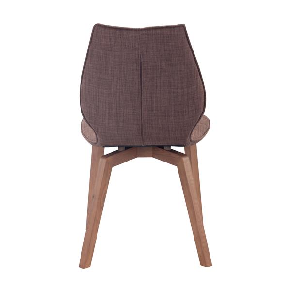Zuo Modern Aalborg Dining Chair - 18.9-in x 18.5-in - Brown - Set of 2