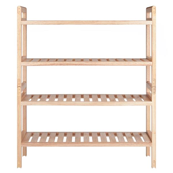Winsome Wood Mercury Shoe Rack Set - 21.5-in - Wood - 2 Pieces