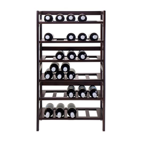 Winsome Wood Silvi Wine Rack - 30-Bottle - Wood - 6-Tier