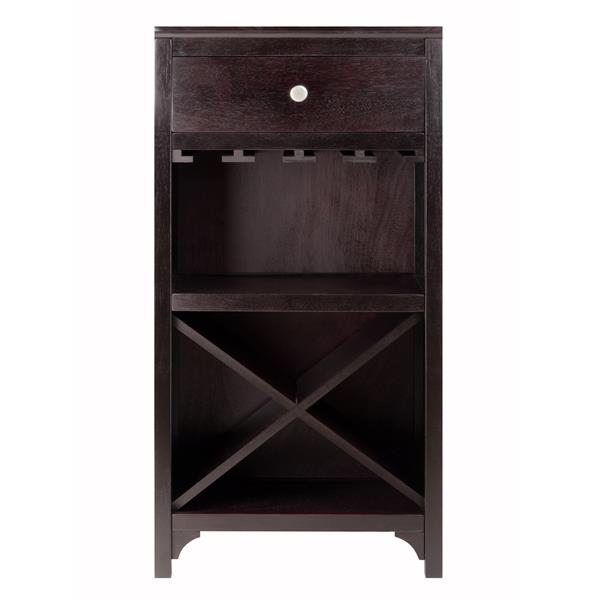 Winsome Wood Ancona Modular Wine Cabinet - 16 bottles - Wood - Brown