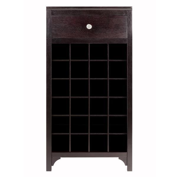 Winsome Wood Ancona Modular Wine Cabinet - 24-Bottle - Wood - Brown