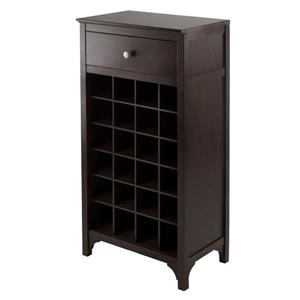 Winsome Wood Ancona Modular Wine Cabinet - 24-Bottle - Wood - Brown