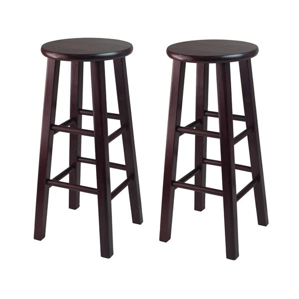 Winsome Wood Pacey Espresso Wood Bar Stools 29-in (Set of 2)
