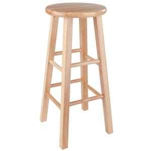 "Tabouret de bar Dakota, 29"", bois, naturel"