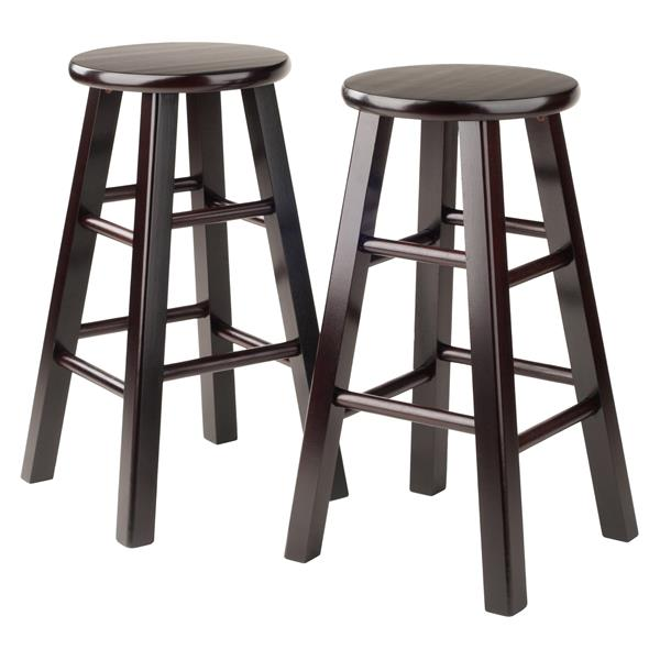 Winsome Wood Pacey Brown Wood Bar Stools 24-in (Set of 2)