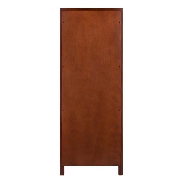 Winsome Wood Brooke Cabinet 17.32-in x 47.44-in Walnut