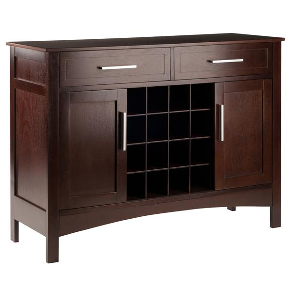 """Buffet-armoire Gordon, 43,7"""" x 32,2"""", bois, cappuccino"""