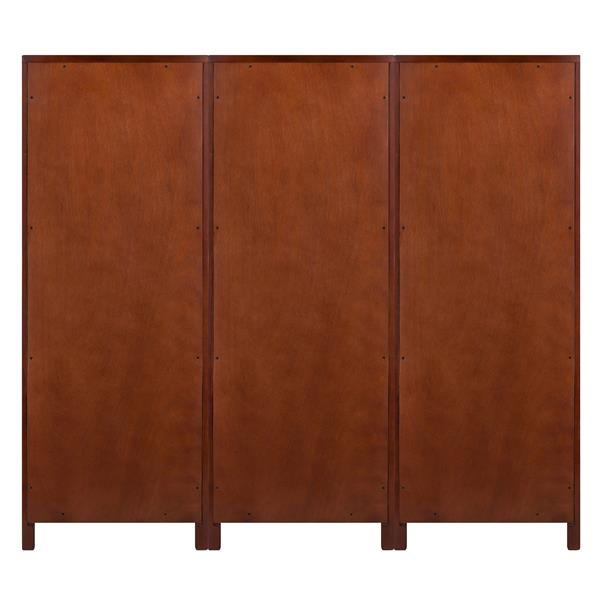 Winsome Wood Brooke Cupboard Set 17.32-in x 47.44-in 3 Pieces Antique Walnut