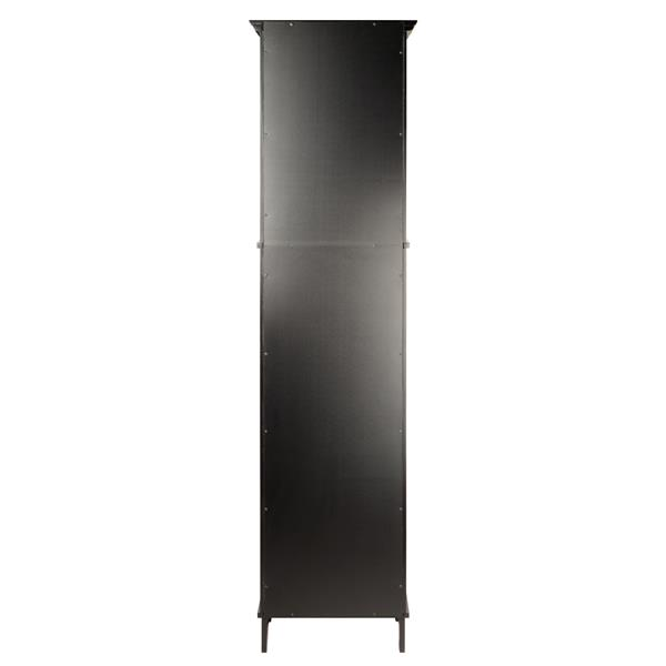 Winsome Wood Alps Cabinet 18.11-in x 70.87-in Black Wood