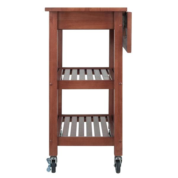 Winsome Wood 33.07-in  Walnut Wood Jonathan Kitchen Cart
