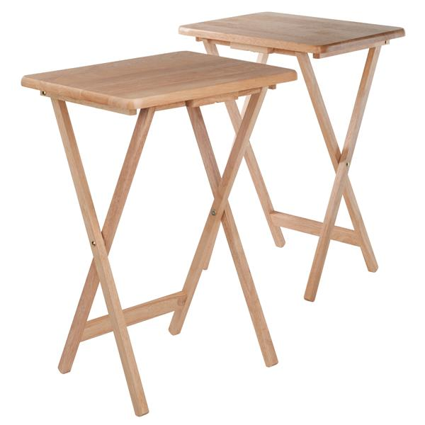 Winsome Wood Alex Walnut Wood Snack Tables (2-Piece Set)