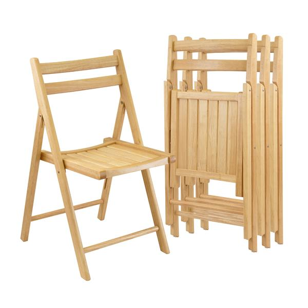 Winsome Wood Robin 17.4-in Natural Wood Folding Chairs Set Of 4