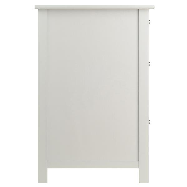 Winsome Wood Delta 20.87-in x 30.71-in White File Cabinet
