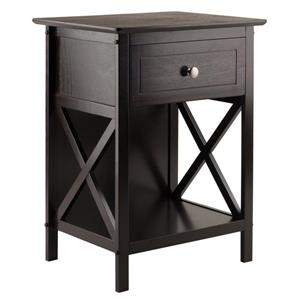 Winsome Wood Xylia 18.9-in x 25-in Coffee Wood Accent Table