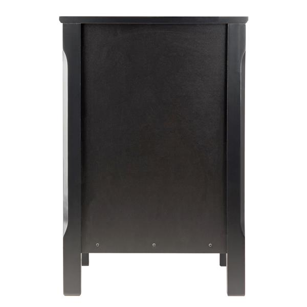 Winsome Wood Timmy 15.75-in 23.62-in Black Wood Accent Table