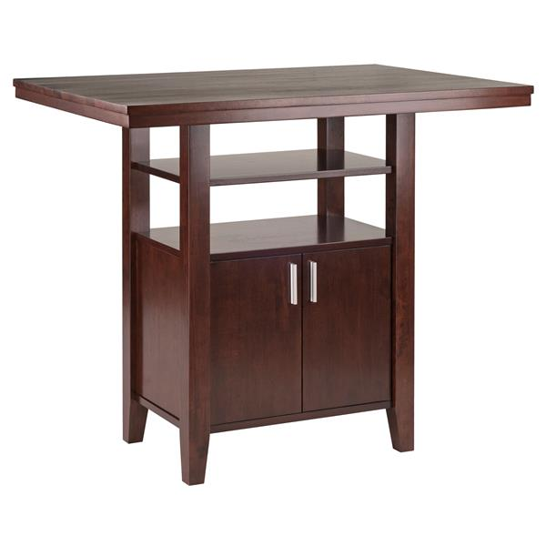 Winsome Wood Albany 35.83-in Walnut Wood Table