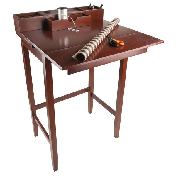 Winsome Wood Archie 28-in x 45-in Walnut Wood High Desk