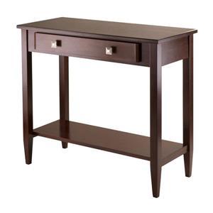 """Table d'applique Richmond, 34"""" x 30"""", bois, noyer"""