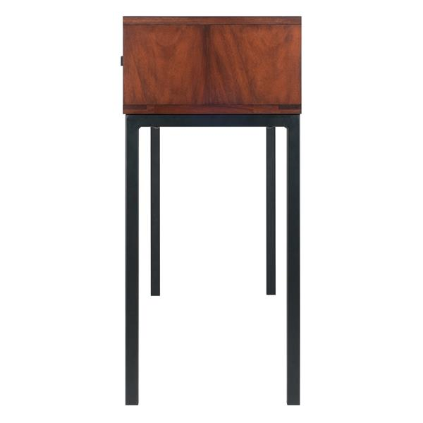 Winsome Wood Jefferson 43.31-in x 30-in Brown Wood Console Table