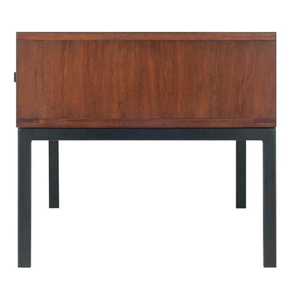 "Table de salon Jefferson, 40"" x 18,35"", bois, brun"