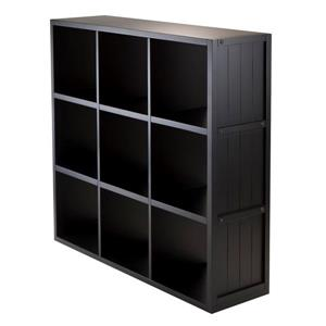 Winsome Wood Timothy 37.76 x 40.08-in 9 Cube Storage Shelf Black