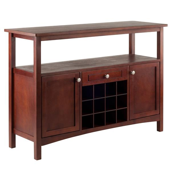Winsome Wood Colby Buffet Cabinet 45-in x 32-in Walnut