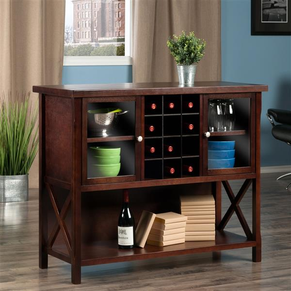 Winsome Wood Xola Buffet Cabinet 43.86-in x 36in Cappuccino