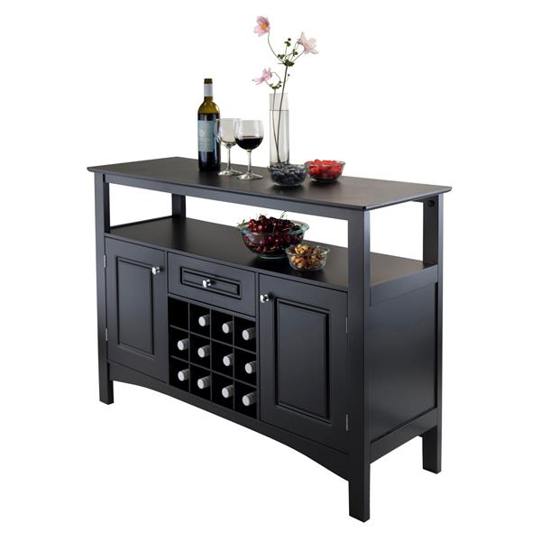 Winsome Wood Jasper Storage Buffet  45.75-in x 32.13-in Black