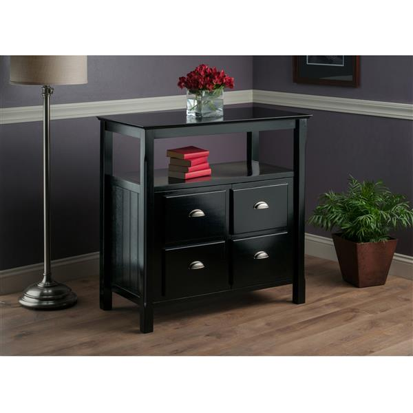 Winsome Wood Timber Buffet Table 36-in x 36-in Black
