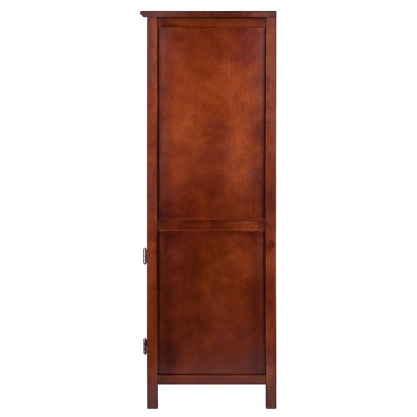 Winsome Wood Brooke Cabinet 17.32-in x 47.44-in 2 Baskets Antique Walnut