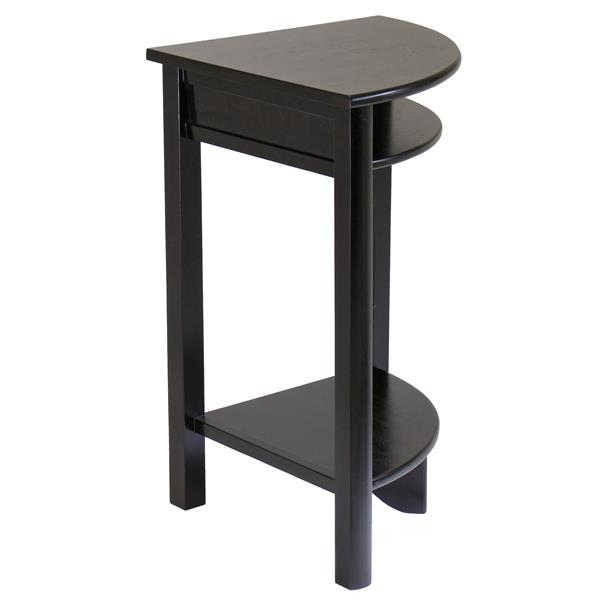 Winsome Wood Liso 20.5-in 31.1-in Espresso Wood Corner Table