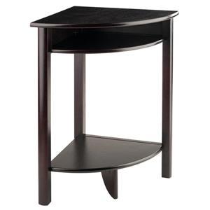 """Table de coin Liso, 20,5"""" x 31"""", bois, espresso"""