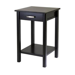 Winsome Wood Liso 20.5-in 31.1-in Espresso Wood End Table