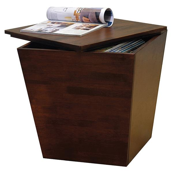 Winsome Wood Mesa 18-in Walnut Wood Storage Cube End Table